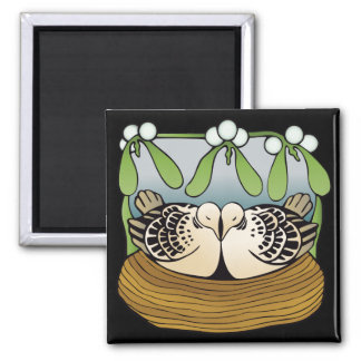 Two turtledoves refridgerator magnet