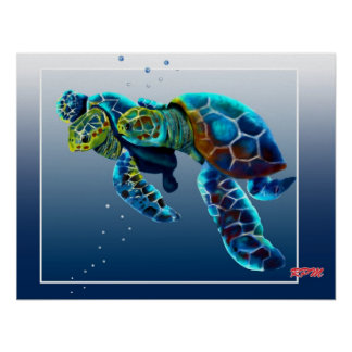 Two Turtles Poster