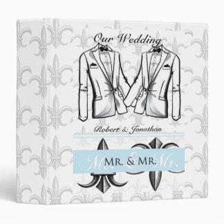 Two Tuxedo Groom Gay Wedding Binder