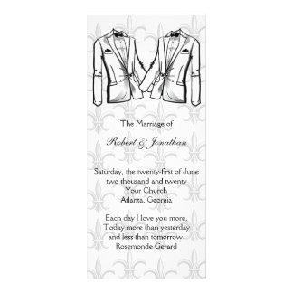 Two Tuxedo Groom Gay Wedding Program