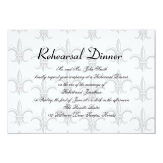"Two Tuxedo Groom Gay Wedding Rehearsal 3.5"" X 5"" Invitation Card"