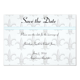 """Two Tuxedo Groom Gay Wedding Save the Date 3.5"""" X 5"""" Invitation Card"""