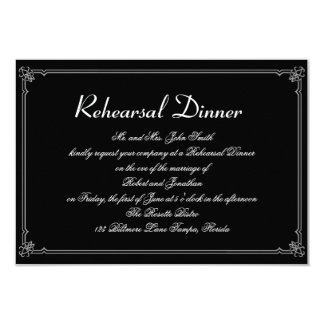 Two Tuxedos with Red Rose Gay Wedding Rehearsal Card
