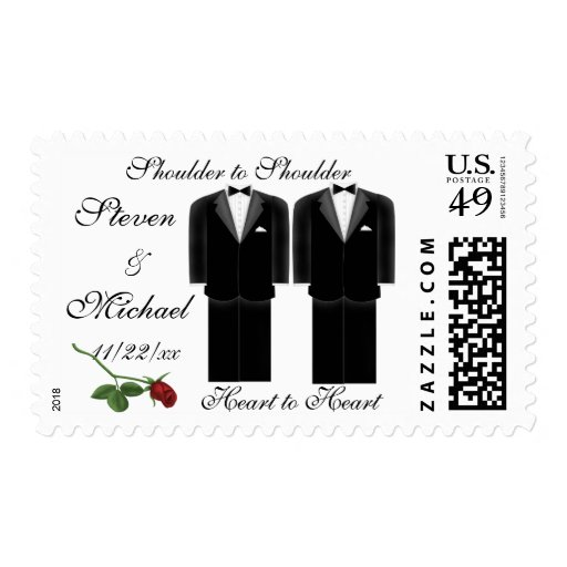 Two Tuxes Stamp