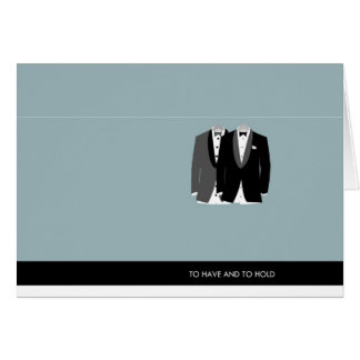 Two Tuxes - To Have and to Hold Stationery Note Card