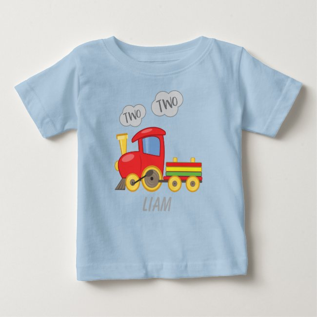 Two Two Train Baby T-Shirt