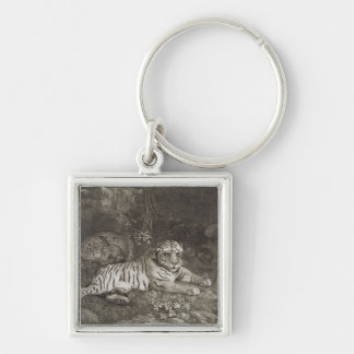 Two Tygers, engraved by the artist, pub. 1788 (etc Keychain