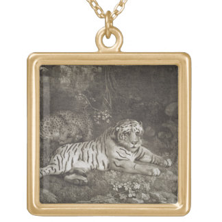 Two Tygers, engraved by the artist, pub. 1788 (etc Square Pendant Necklace