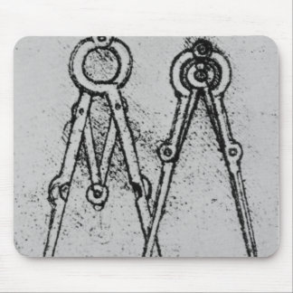 Two types of adjustable-opening compass mouse pad