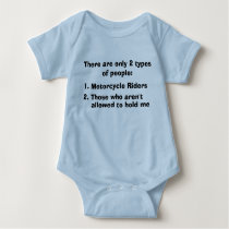 Two Types of People Motorcycle Baby Bodysuit