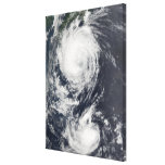 Two Typhoon systems approaching the Far East Canvas Prints
