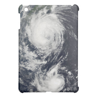 Two Typhoon systems approaching the Far East iPad Mini Case