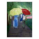 Two Umbrellas Greeting Card