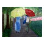 Two Umbrellas Postcard