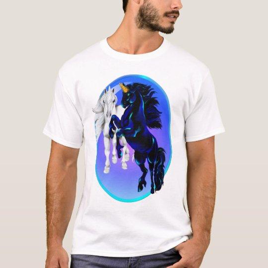 Two Unicorn Stallions Oval Shirts