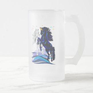 Two Unicorns and Waves Mugs