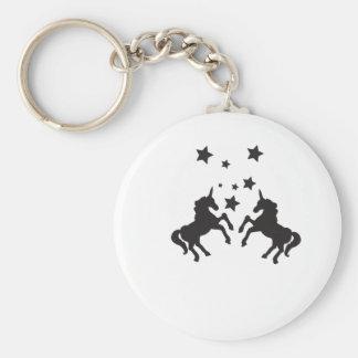 Two unicorns keychain