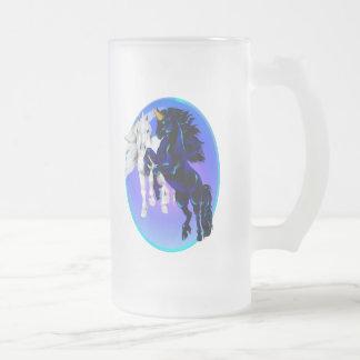 Two Unicorns Oval Mugs