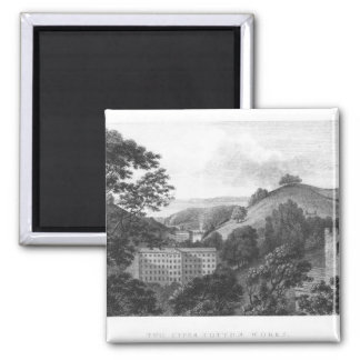 Two Upper Cotton Works, New Lanark Textile 2 Inch Square Magnet