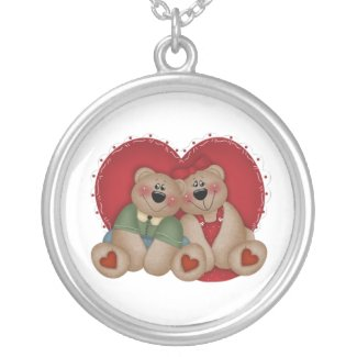 Two Valentine Bears Necklace