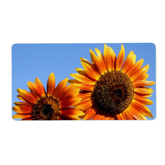 Two Very Sunny Autumn Beauty Sunflowers Label