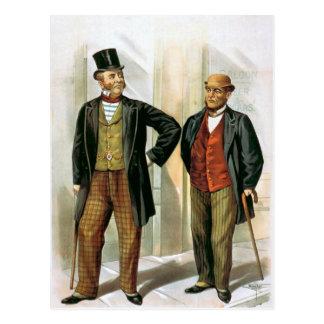 """""""Two Victorian Gentlemen"""" Vintage Postcard"""