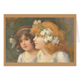 Two Victorian Girls Cards