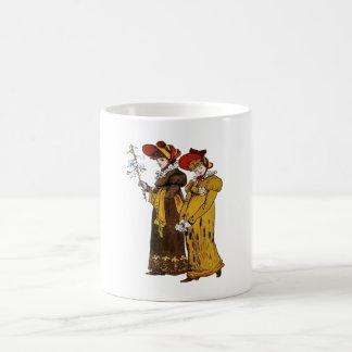 Two Victorian Ladies Mugs