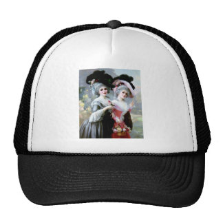 Two Victorian Ladies with Roses painting Trucker Hat