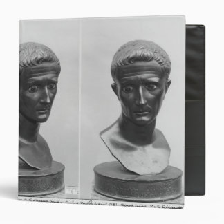 Two views of a bust of Emperor Augustus Binder