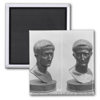 Two views of a bust of Emperor Augustus Fridge Magnets