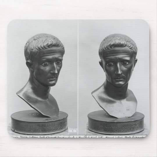 Two views of a bust of Emperor Augustus Mouse Pad