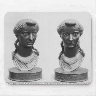 Two views of a bust of Livia Mouse Pad