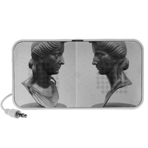 Two views of a bust of Livia Notebook Speaker