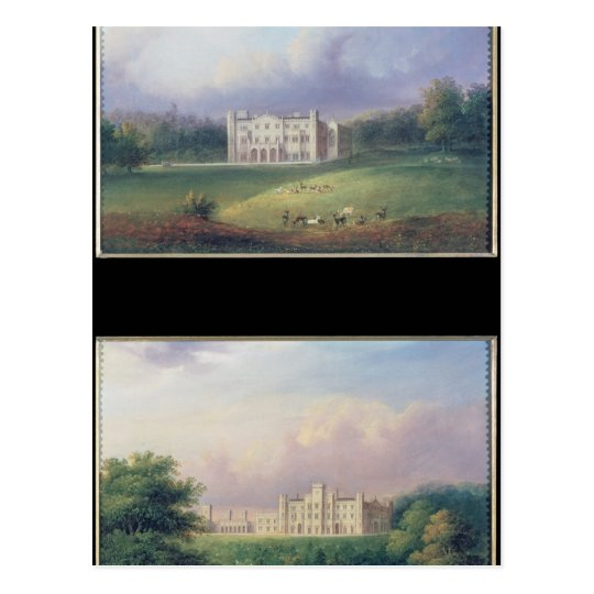Two Views of Apley Priory Postcard