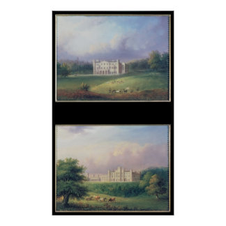 Two Views of Apley Priory Poster