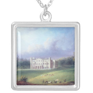 Two Views of Apley Priory Square Pendant Necklace
