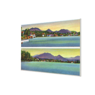 Two Views of Lake Flower Gallery Wrap Canvas