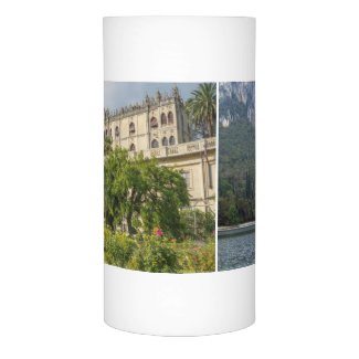 Flameless Candle with Two Views of Lake Garda Mansion   Zazzle.com/lizardmarsh