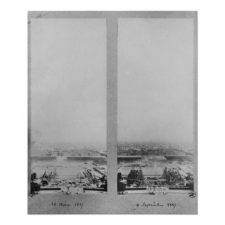 Two views of the construction of the Eiffel 2 Poster