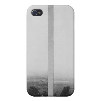 Two views of the construction of the Eiffel iPhone 4/4S Cover