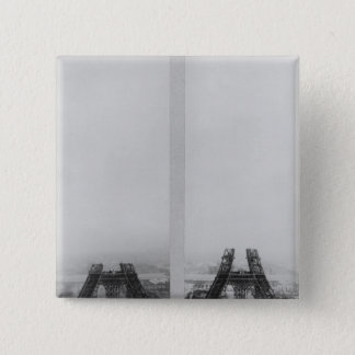 Two views of the construction of the Eiffel Pinback Button
