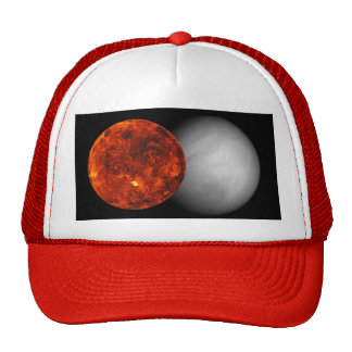 Two Views Of The Planet Venus Trucker Hat