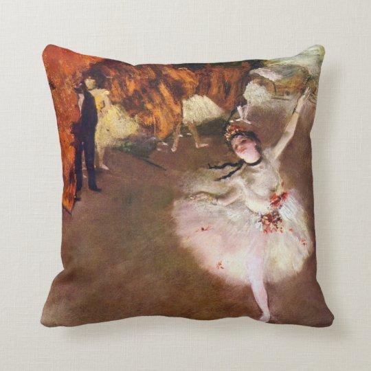 Two Vintage Ballet and Ballerinas by Edgar Degas Throw Pillow