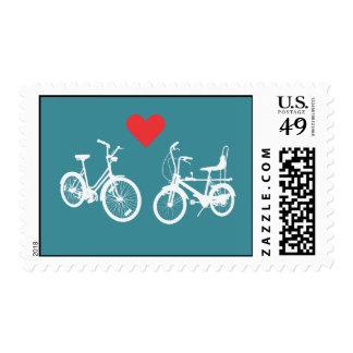 Two Vintage Bikes Postage Stamp