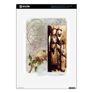 Two Vintage Cowgirls Rose Sisters Antique Photo iPad 3 Skins