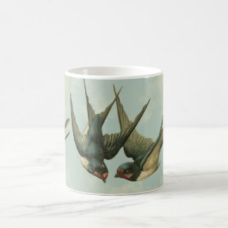 Two Vintage Swallows Coffee Mug