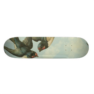 Two Vintage Swallows Skateboard