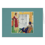 Two Vintage Women in the Kitchen Card