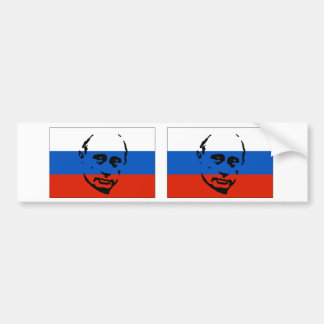 TWO Vladimir Putin/Russian Flag Car Bumper Sticker